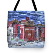 Union Pacific Train Car Painting Tote Bag