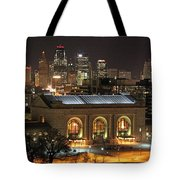 Union Station At Night Tote Bag
