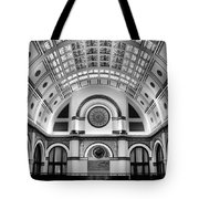Union Station Lobby Black And White Tote Bag