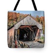Union Village Covered Bridge Thetford Vermont Tote Bag