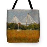 Unique Bridge View Tote Bag