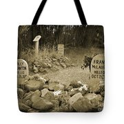 Unique Cemetery Image Tote Bag