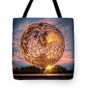 Unisphere At Sunset Tote Bag