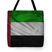 United Arab Emirates Flag Waving On Canvas Tote Bag