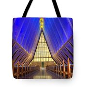 United States Airforce Academy Chapel Interior Tote Bag