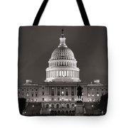 United States Capitol At Night Tote Bag