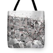 United States Map Collage 3 Tote Bag