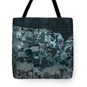 United States Map Collage 5 Tote Bag