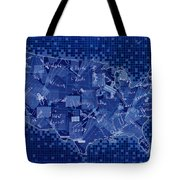 United States Map Collage 7 Tote Bag