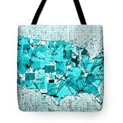 United States Map Collage 8 Tote Bag