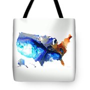 United States Of America Map 7 - Colorful Usa Tote Bag