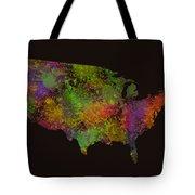 Unites States Watercolor Map Tote Bag