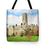 University Hall University Of Toledo 9206 Tote Bag