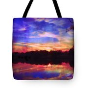 University Lakes At Twilight Tote Bag