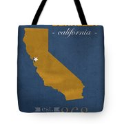 University Of California At Berkeley Golden Bears College Town State Map Poster Series No 024 Tote Bag