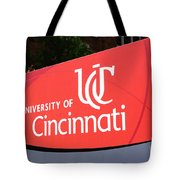 University Of Cincinnati Sign Tote Bag