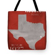 University Of Houston Cougars Texas College Town State Map Poster Series No 045 Tote Bag