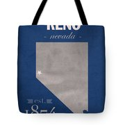 University Of Nevada Reno Wolfpack College Town State Map Poster Series No 072 Tote Bag