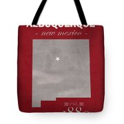 University Of New Mexico Albuquerque Lobos College Town State Map Poster Series No 074 Tote Bag