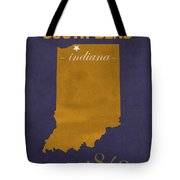 University Of Notre Dame Fighting Irish South Bend College Town State Map Poster Series No 081 Tote Bag