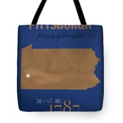 University Of Pittsburgh Pennsylvania Panthers College Town State Map Poster Series No 089 Tote Bag