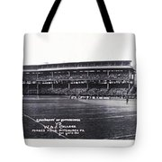 University Of Pittsburgh Vs W And J College Forbes Field Pittsburgh Pa 1915 Tote Bag by Bill Cannon