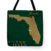 University Of South Florida Bulls Tampa Florida College Town State Map Poster Series No 101 Tote Bag