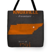 University Of Tennessee Volunteers Knoxville College Town State Map Poster Series No 104 Tote Bag