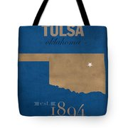 University Of Tulsa Oklahoma Golden Hurricane College Town State Map Poster Series No 115 Tote Bag