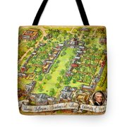 University Of Virginia Academical Village  With Scroll Tote Bag