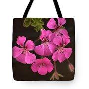 Pink Geranium Flower Tote Bag