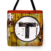 Unknown T - Railroad Art Tote Bag