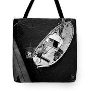 Unloading Fish At Wharf Two Monterey  Circa 1950  Tote Bag