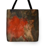 Untitled Abstract - Umber With Scarlet Tote Bag