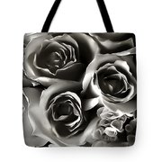 Bw Rose Bouquet 2 Tote Bag