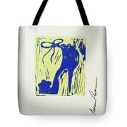 Untitled Shoe Print In Blue And Green Tote Bag