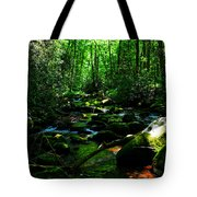 Up A Little River Tote Bag