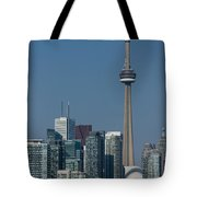 Up Close And Personal - Cn Tower Toronto Harbor And Skyline From A Boat Tote Bag
