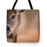 Up Close White Tail Tote Bag