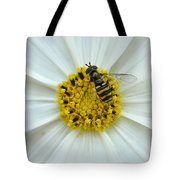 Up Close With The Bee And The Cosmo Tote Bag