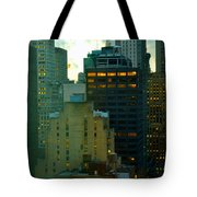 Up - Skyscrapers Of New York Tote Bag