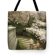 Up The Cherry Steps Tote Bag