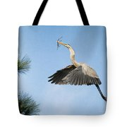 Up To The Nest Tote Bag by Deborah Benoit