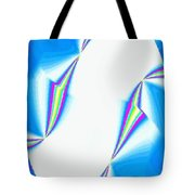 Upbeat Abstract Oval Tote Bag