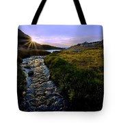 Upper Blue Sunrise Tote Bag
