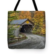 Upper Falls Covered Bridge Tote Bag