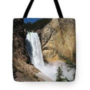 Upper Falls Yellowstone National Park Tote Bag