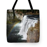 Upper Mesa Falls Idaho Tote Bag