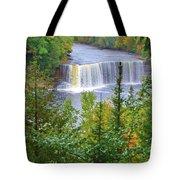 Upper Tahquamenon Falls In Early Autumn Tote Bag