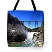 Upper Waterfalls In Letchworth State Park Tote Bag